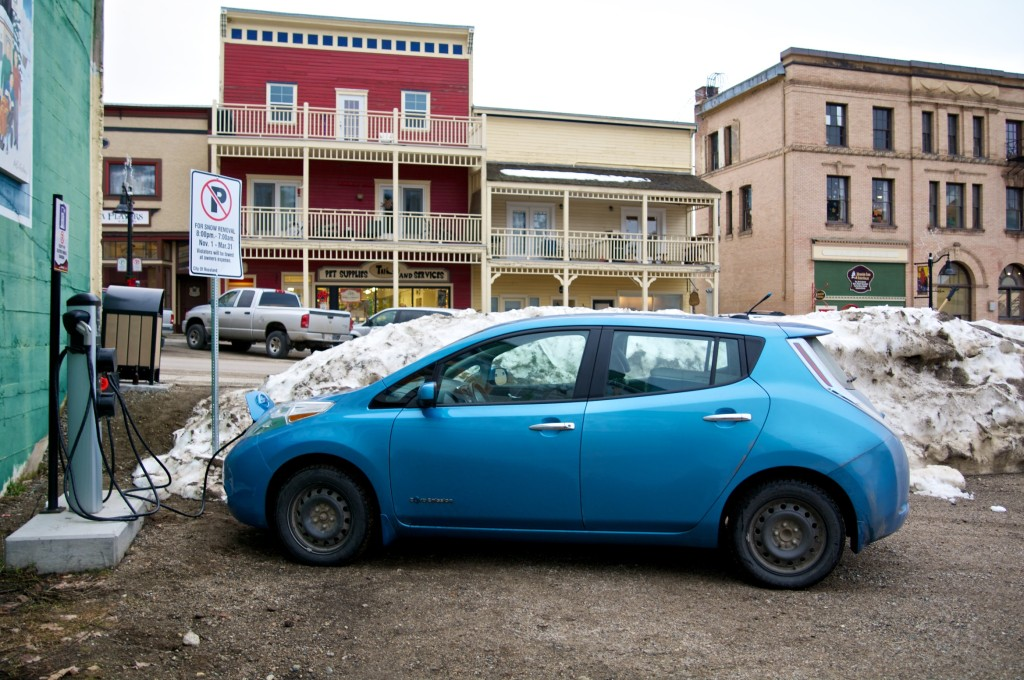 Rossland Chargepoint station