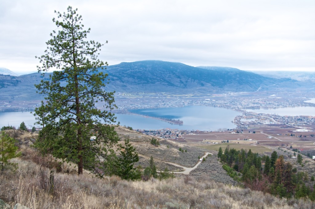 Looking down on Osoyoos