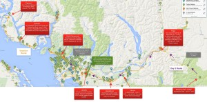 Manning Park to the Lower Mainland and Sunshine Coast - click to enlarge