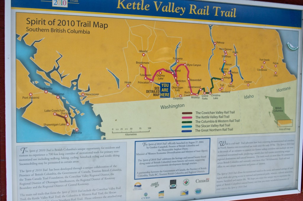 KVR Trail Map in Princeton  Kootenay EV Family
