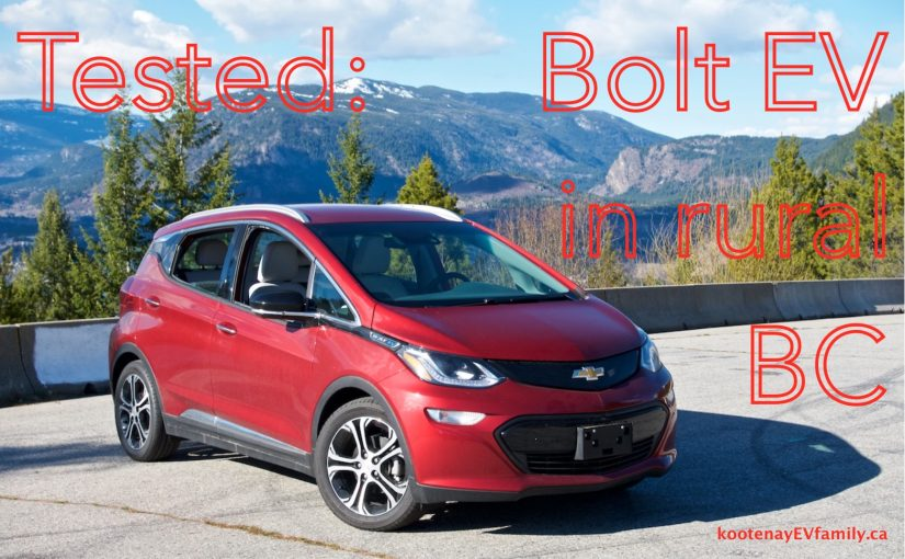 Chevy Bolt EV:  a review from rural BC