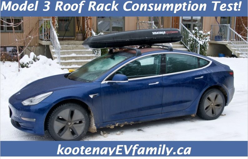 Model 3 Roof Rack Consumption Test